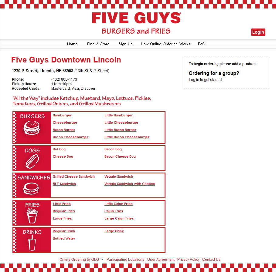 Five guys menu uk