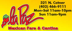 La Paz Mexican Fare & Cantina | Reviews | Hours & Info | Lincoln NE | NiteLifeLincoln.com