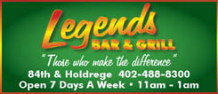 egends Bar & Grill - Take-Out & Delivery Menu - Lincoln NE