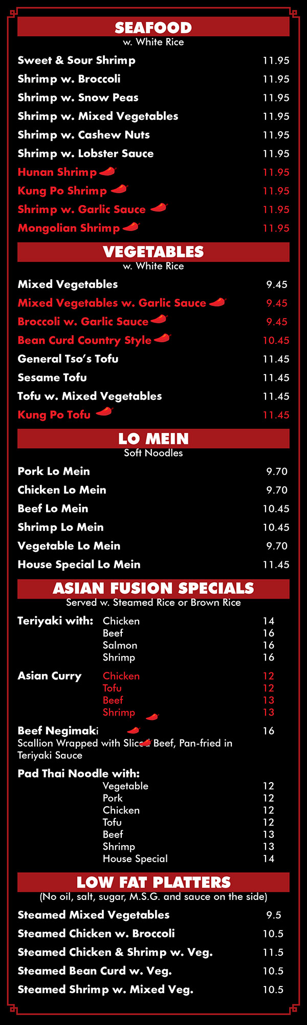 Asian Fusion | Full Menu With Prices | Lincoln NE | Order Online ...