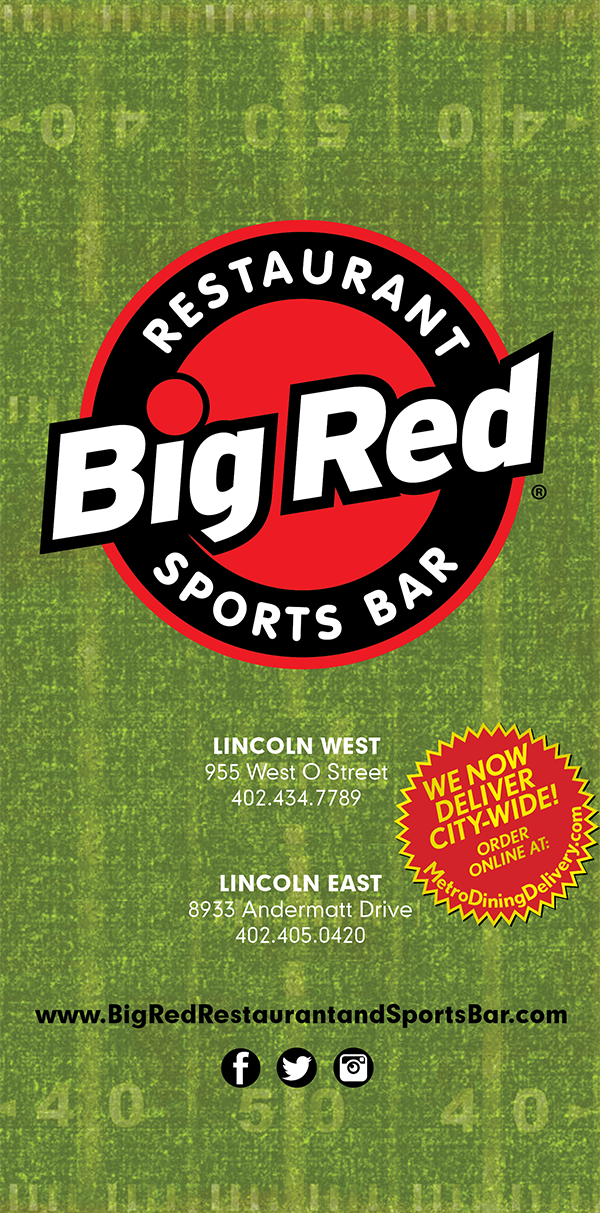 Red Restaurant Sports Bar Menu Page 1 Lincoln West 955 O Street 402 434