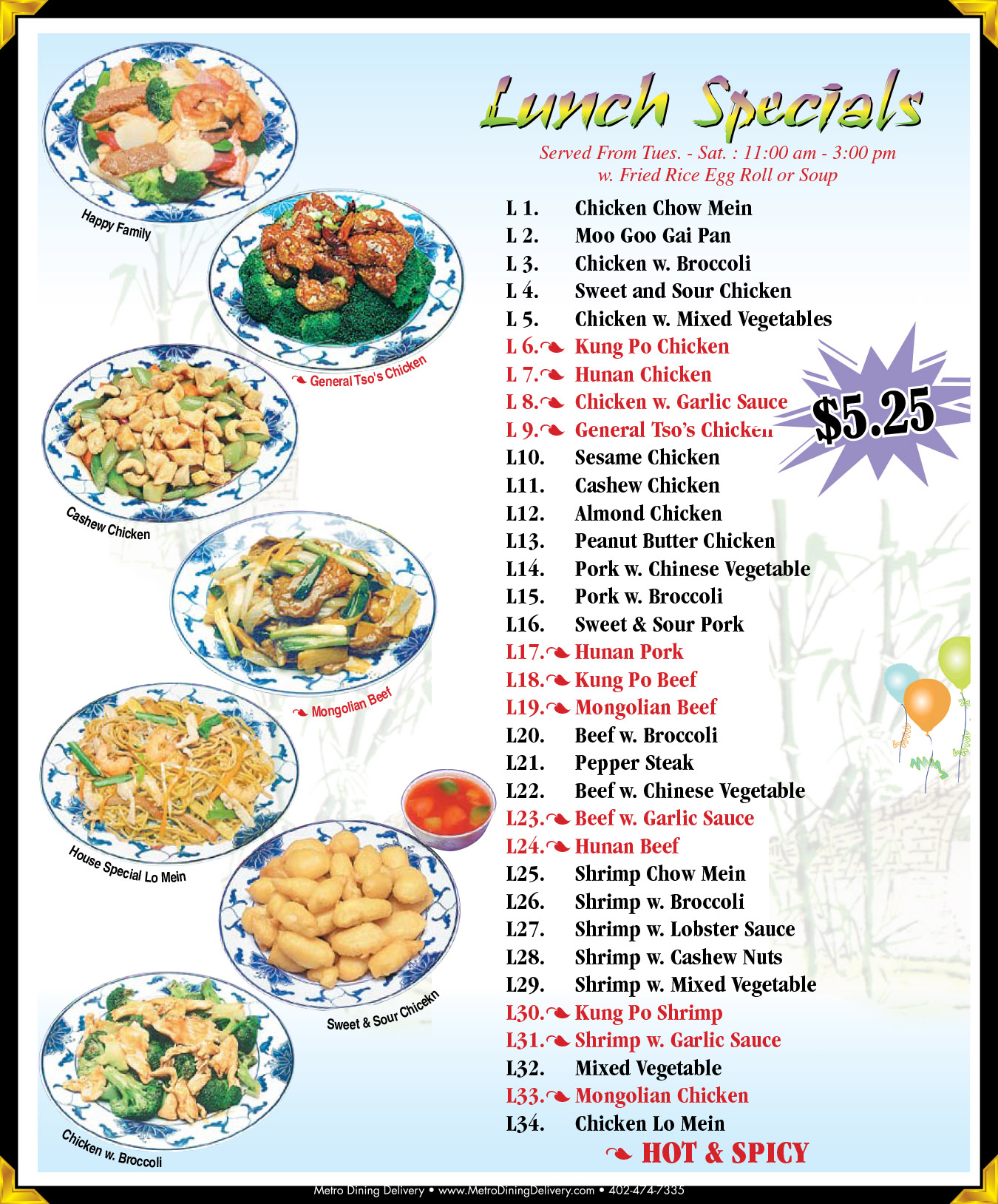 Food Delivery Lincoln Ne: Highlands Great Wall Chinese Menu