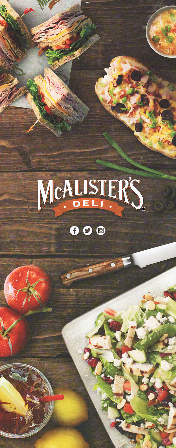 picture relating to Mcalisters Deli Printable Menu identify McAlisters Deli Menu Shipping Buy On the internet Lincoln