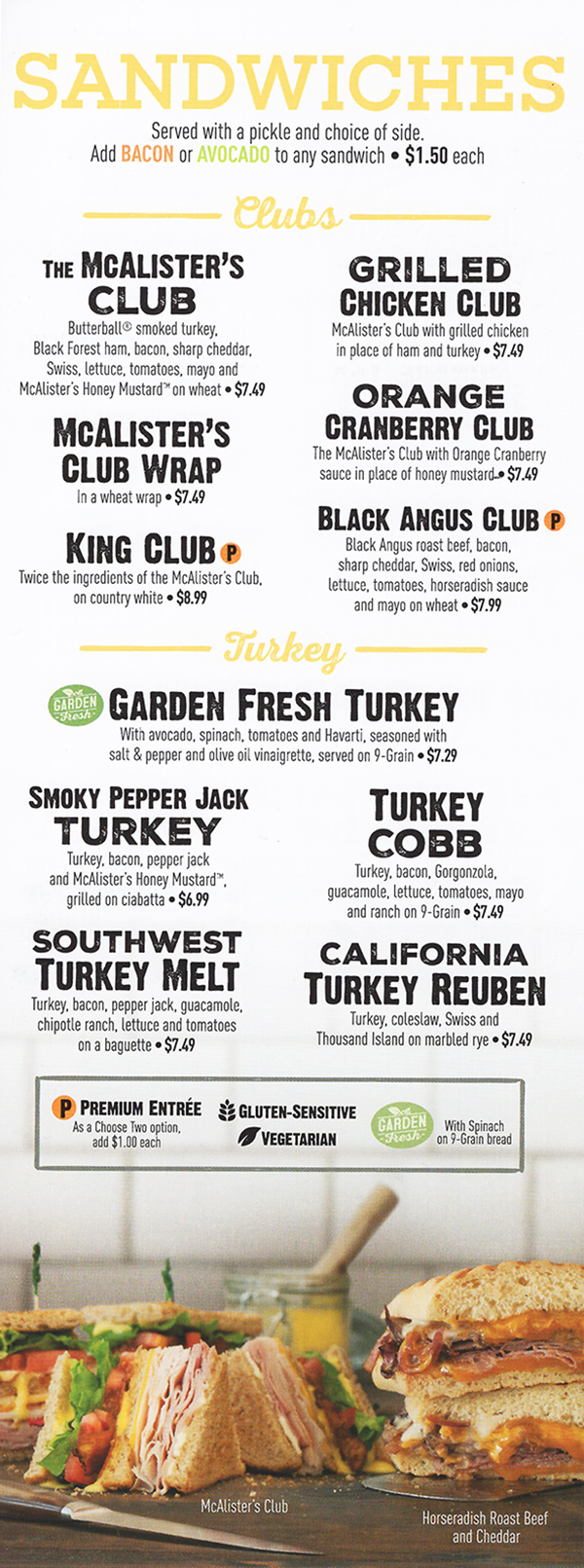 It's just an image of Sizzling Mcalister's Printable Menu