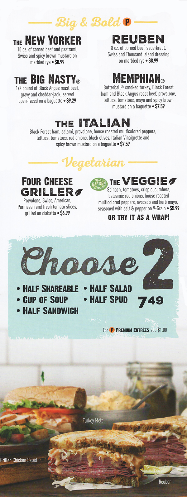 This is an image of Challenger Mcalisters Deli Printable Menu