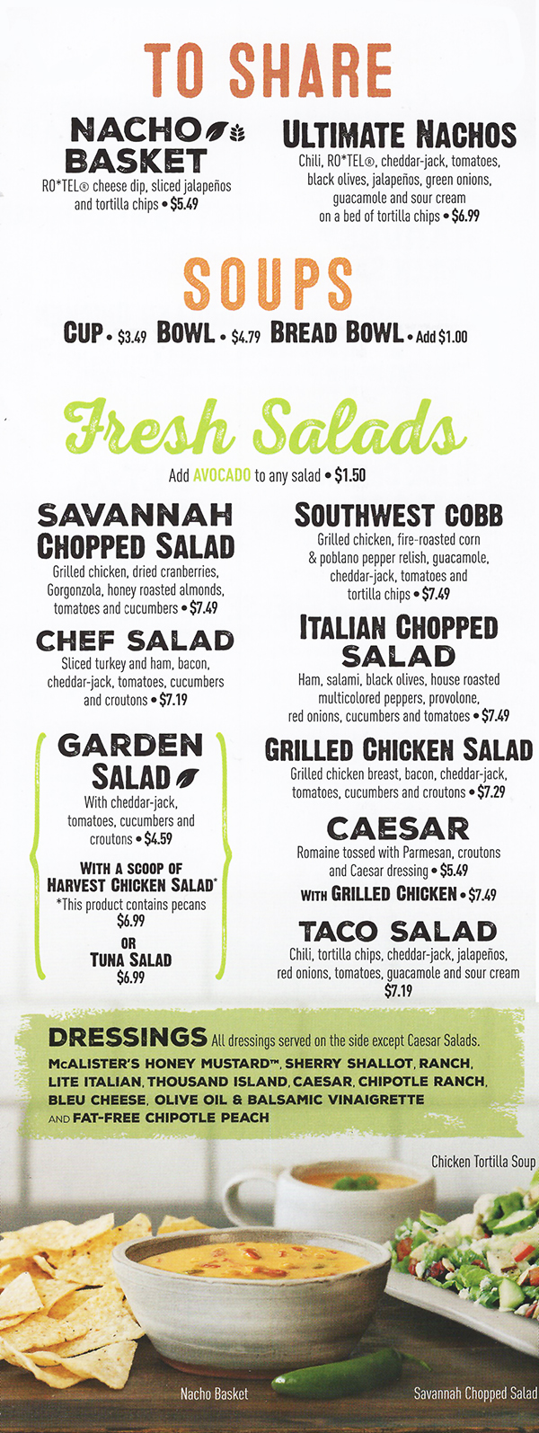 Crush image in mcalisters deli printable menu