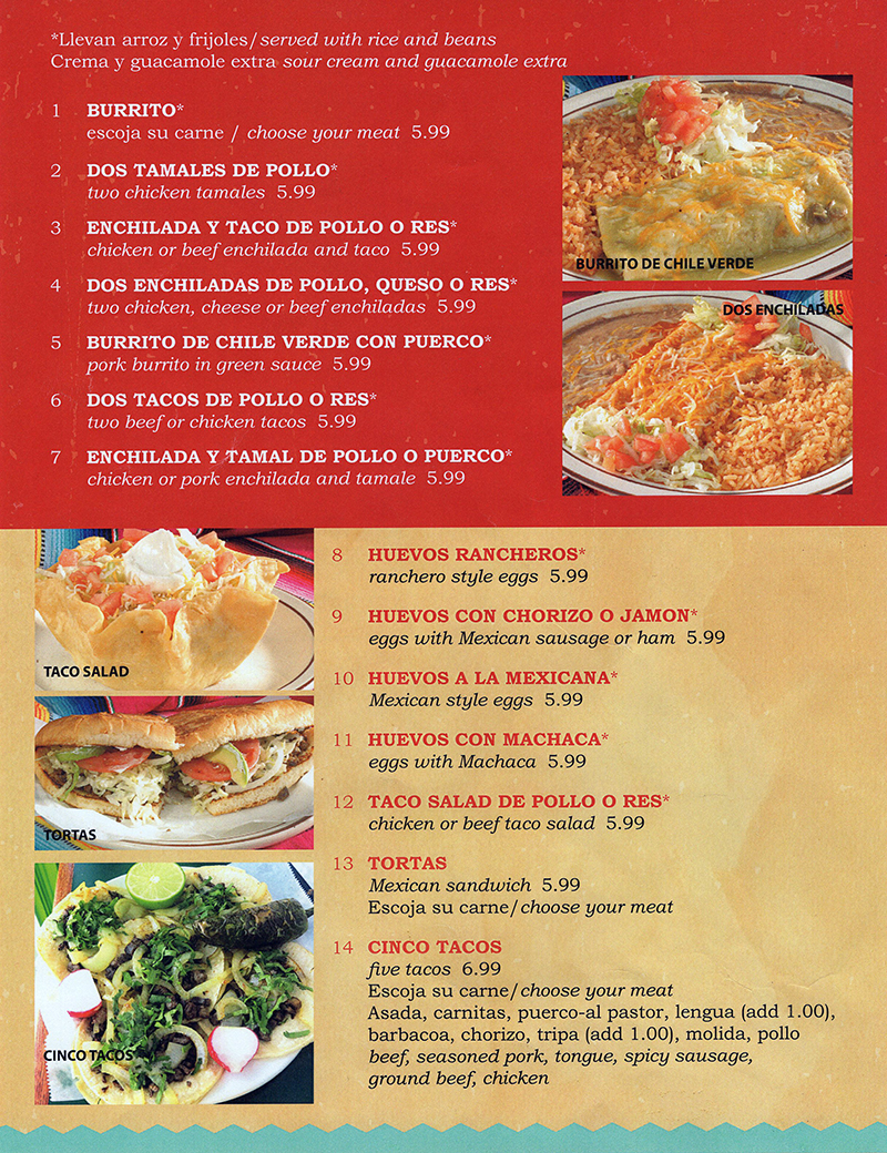 Neveria Mexican Restaurant Menu Lincoln Ne 2