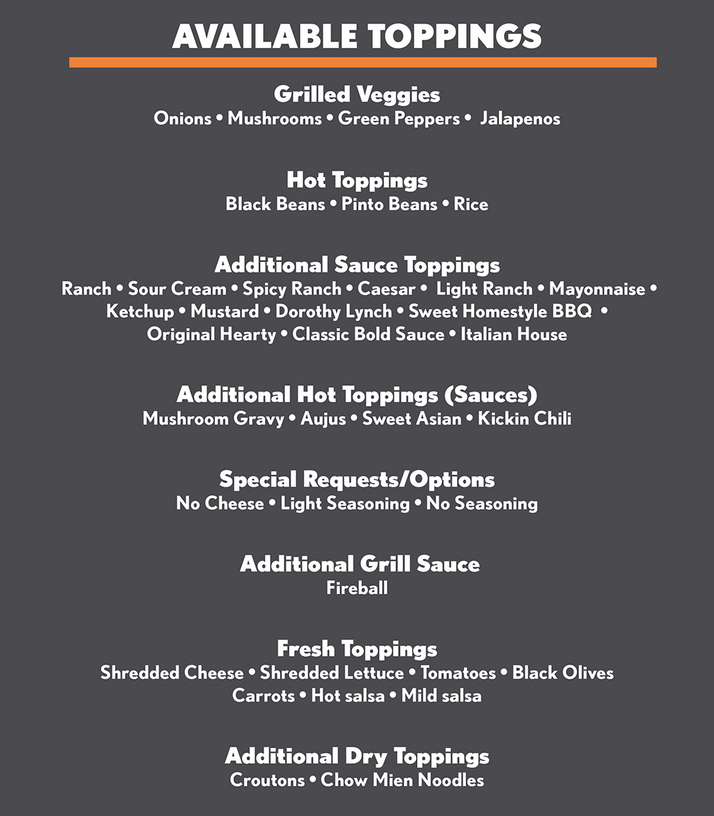 Food Delivery Lincoln Ne: Pepperjax Grill Menu