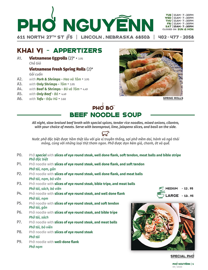 Pho Nguyenn Vietnamese Restaurant Menu Delivery Order Online Lincoln Online City Wide Delivery Metro Dining Delivery