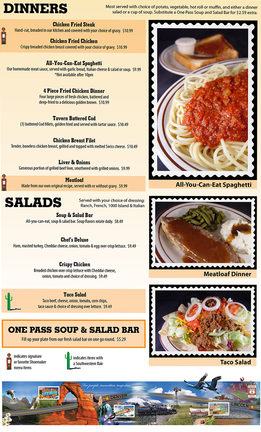 Shoemakers Travel Center Menu - 151 SW 48th St, Lincoln, NE 68522 ...