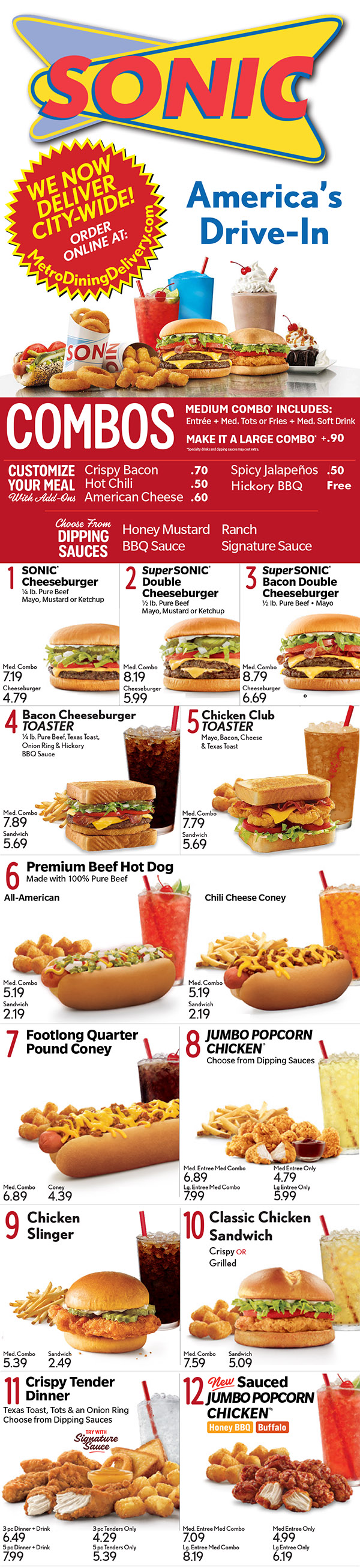 Sonic Drive In Full Menu With Prices Lincoln Ne