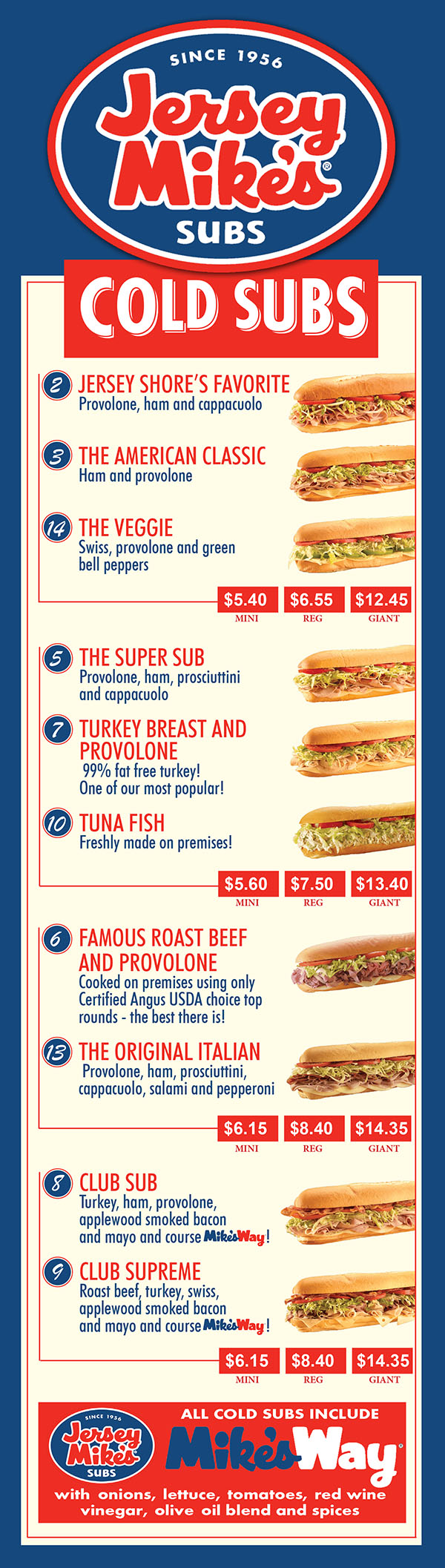Jersey Mike's Subs Menu   Order Online   Delivery   Lincoln NE ...